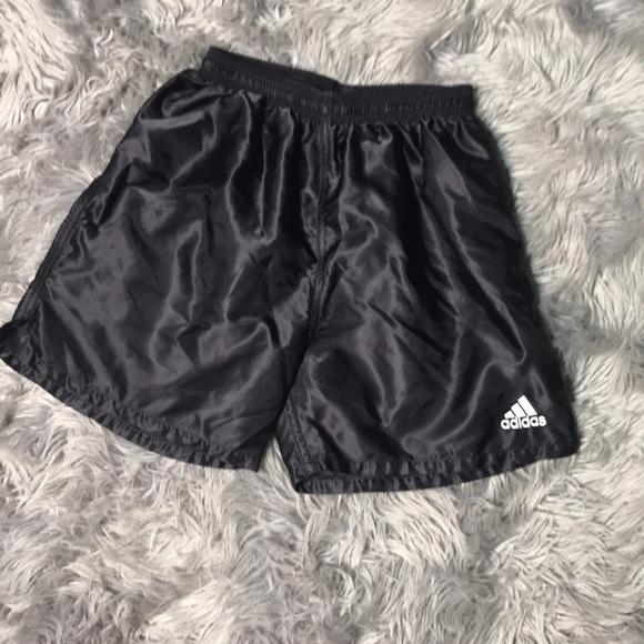 adidas shiny shorts